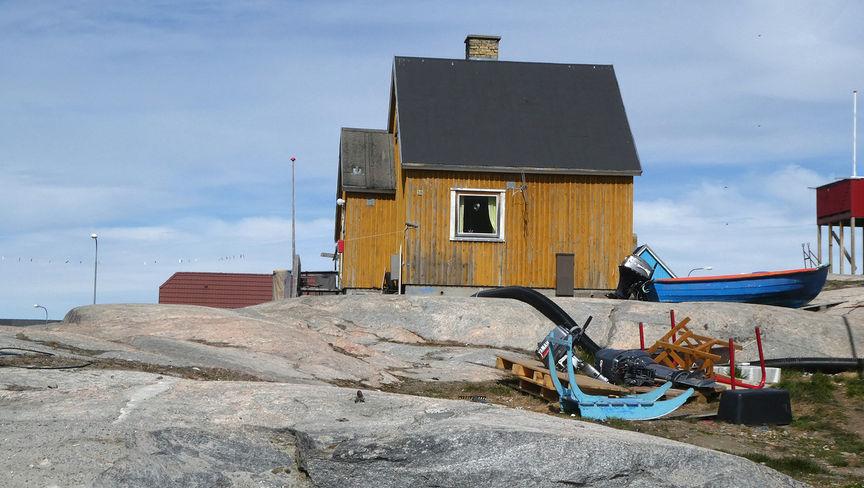 Hus på Grønland.