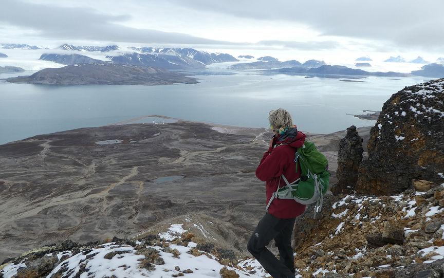 Utsikt over Kongsfjorden.