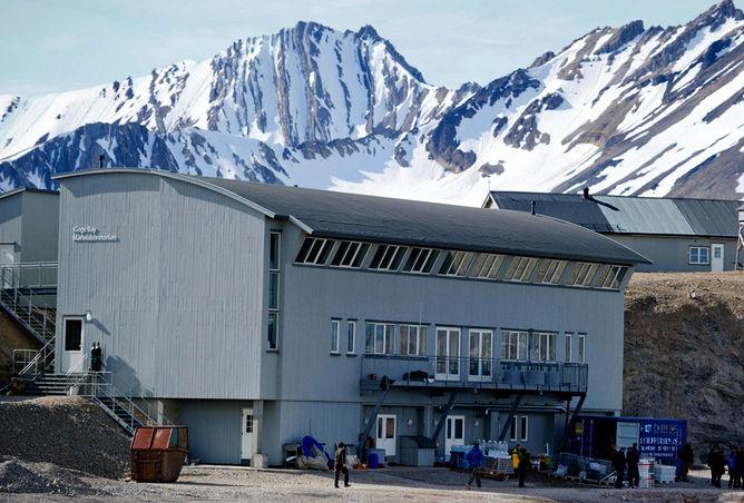 Marinlaboratoriet i Ny Ålesund.