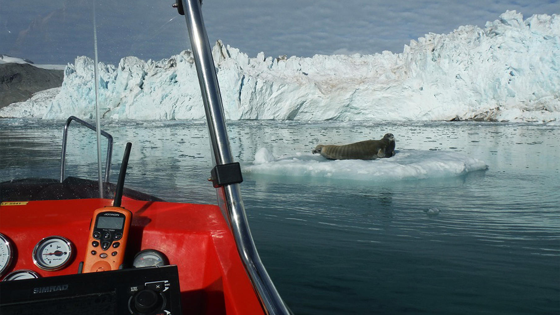 I Kongsfjorden på Svalbard