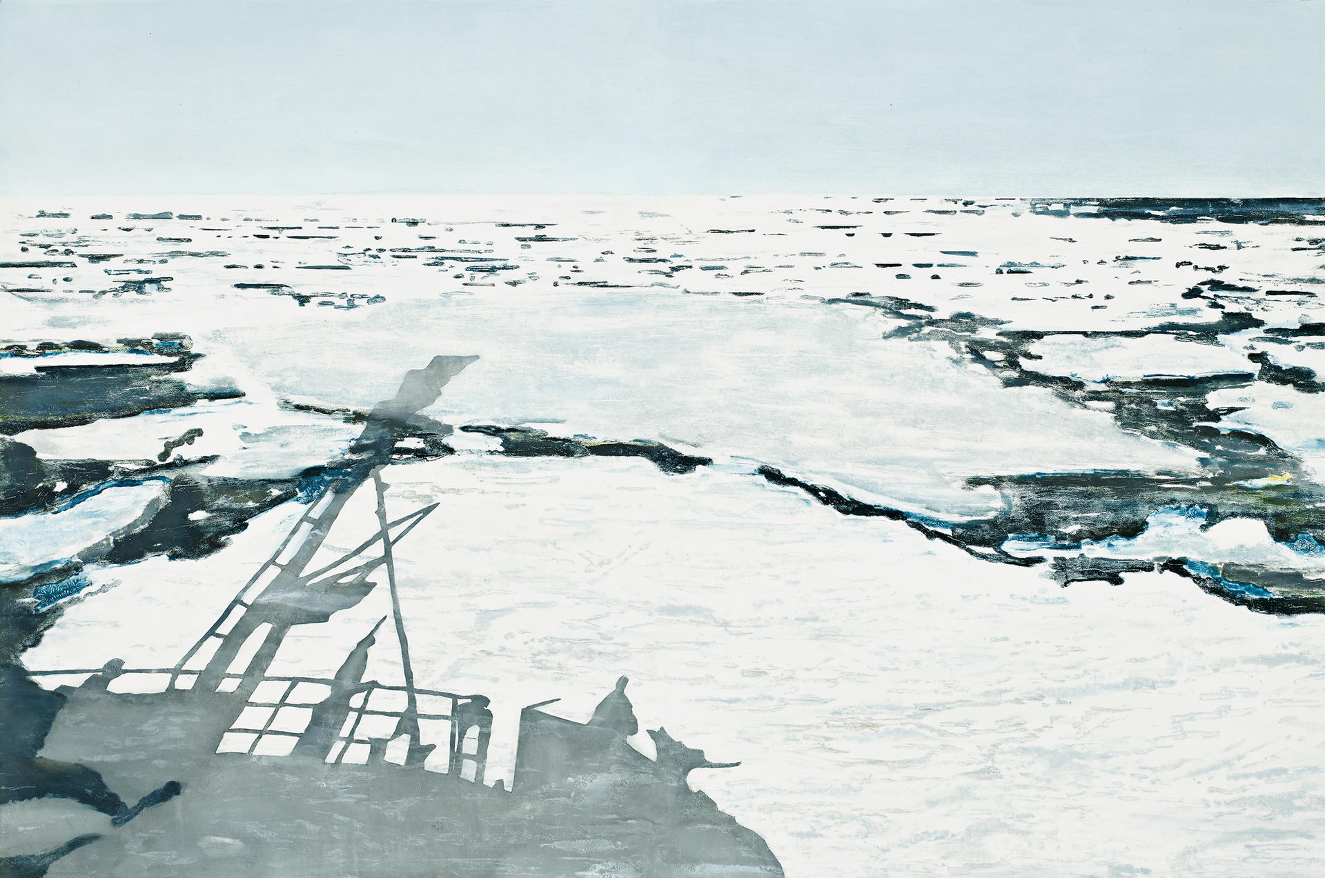IN THE ICE, 200 x 140 cm, (Norges Bank), 2018