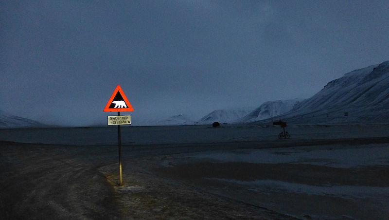 Longyearbyen i november.