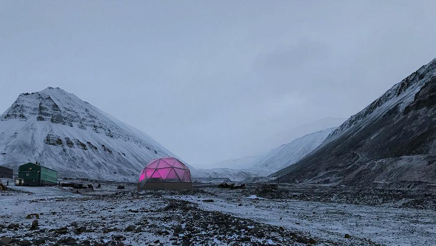 Drivhuset i Longyearbyen i oktober.