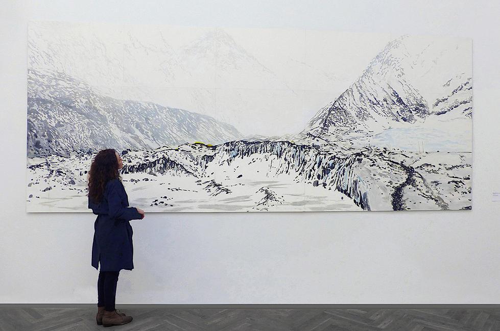 GLACIER I, 498 x 204 cm