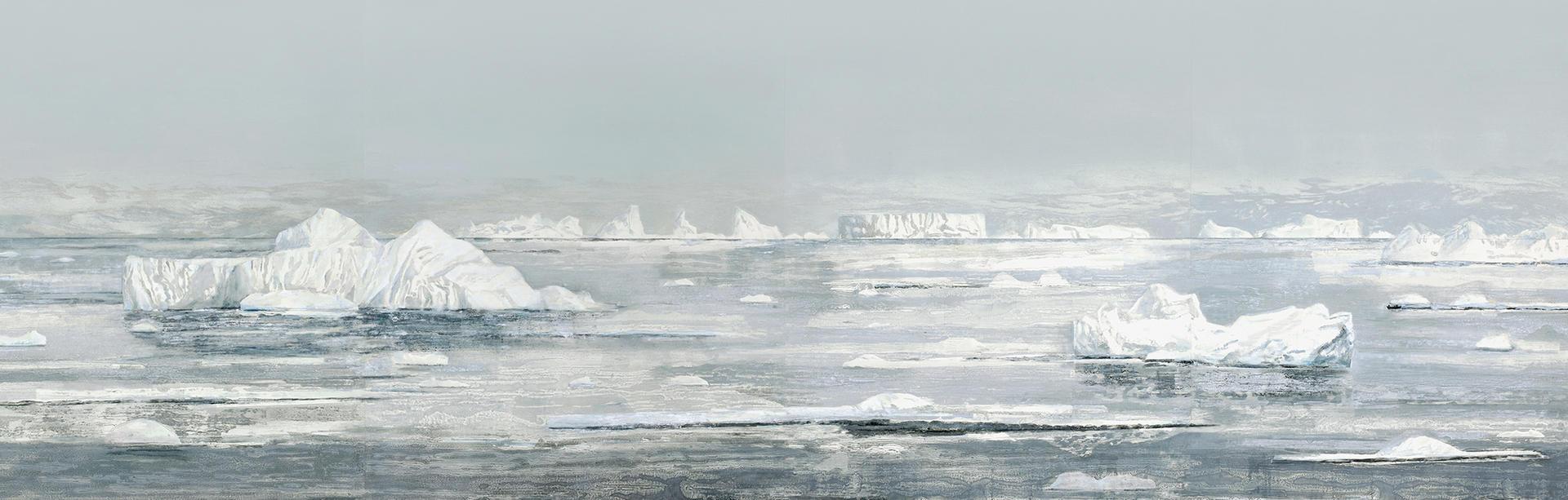 SOFT ICE, 398 x 120 cm, 2018
