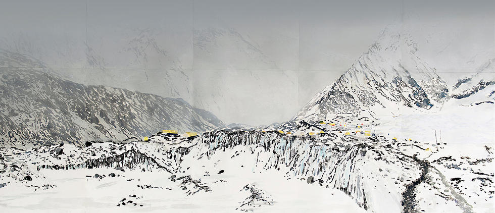 GLACIER II, 498 x 204 cm