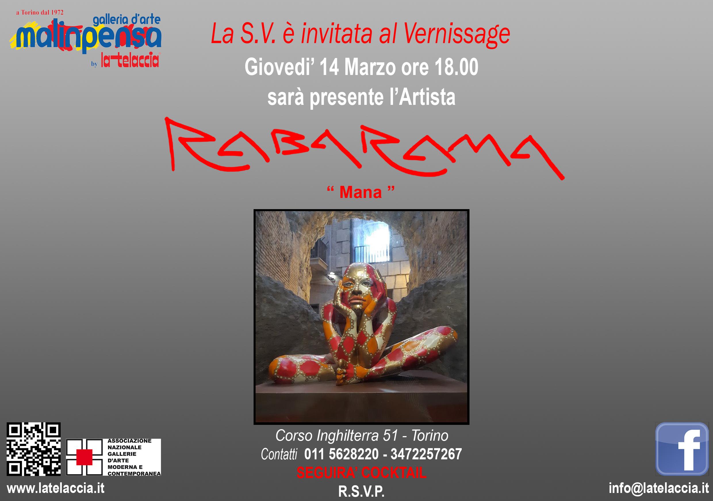 INVITO VERNISSAGE RABARAMA MANA