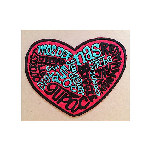 HipHop Heart Embroidered Patch