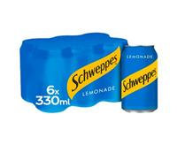 Schweppes Lemonade Cans 6 pack 330ml