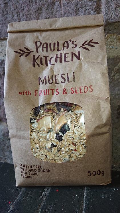 Paula's Kitchen Muesli Fruits and Seeds