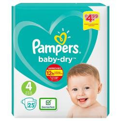 Pampers Nappies Size 4 25s