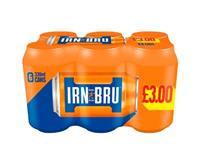 Barrs Irn-Bru 330ml Cans 6 Pack