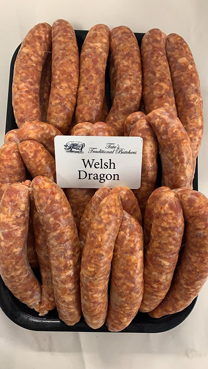 Tate's Butchers Welsh Dragon Sausages