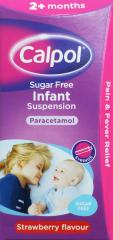 Calpol Sugar Free Infant Suspension Paracetamol 100ml