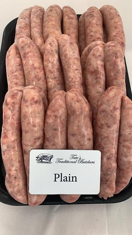Tate's Butchers Plain Sausages (6 per Pack)