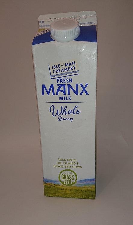 Whole Manx Milk 1ltr