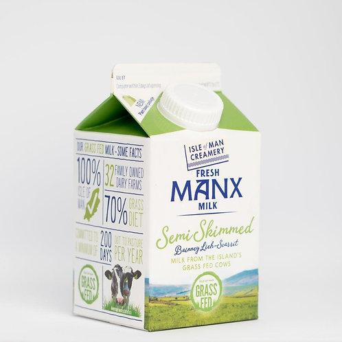 Semi-Skimmed Manx Milk