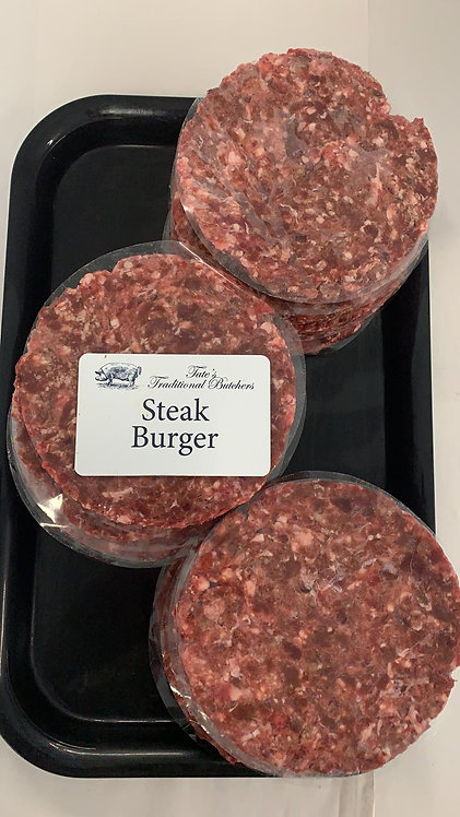 Tate's Butchers Steak Burgers (2 Pack)