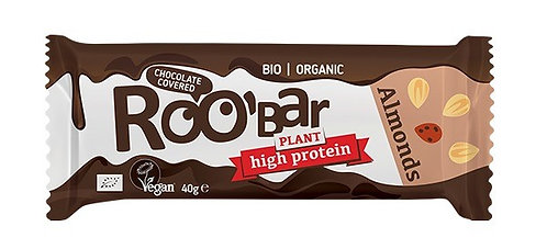 RooBar High Protein Chocolate Covered Almond Bar