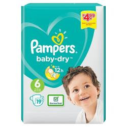 Pampers Nappies Size 6 19's