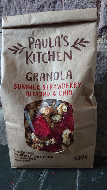 Paula's Kitchen Granola Summer Strawberry Almond & Chia