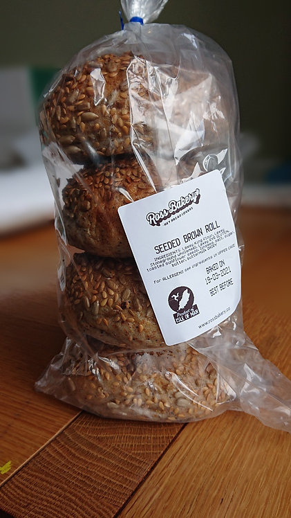 Seeded Brown Rolls 4 pack