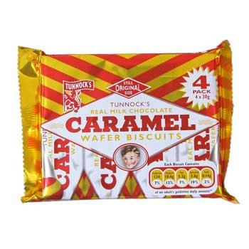 Caramel Wafer Biscuits 4 pack