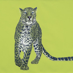 Leopard with blue spots
