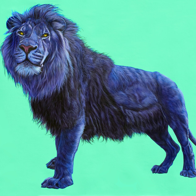 Lion on green