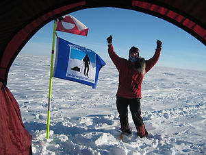 A person crossing the Greenland Icecap