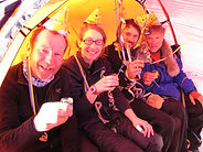 Celebrating a birthday during a South Pole expedition, Hercules Inlet route.