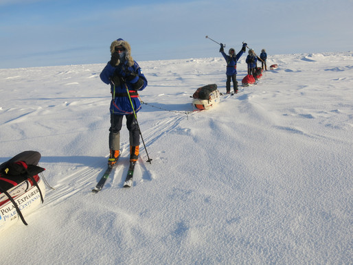 North Pole, First Day Of Skiing