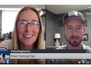 Two PolarExplorers guides doing Online Polar Training