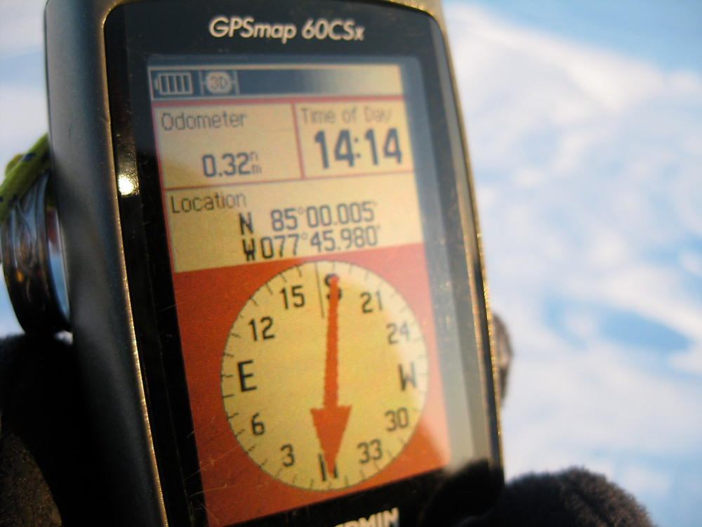 85º North Latitude is in the Arctic Ocean. This image is from a North Pole ski expedition.