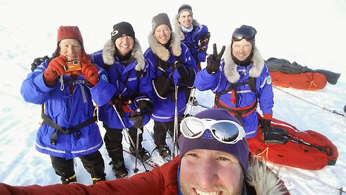 A team of North Pole skiers train for their expedition on the Polar Shakedown Training