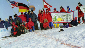 1993 North Pole Ski Expedition at the North Pole