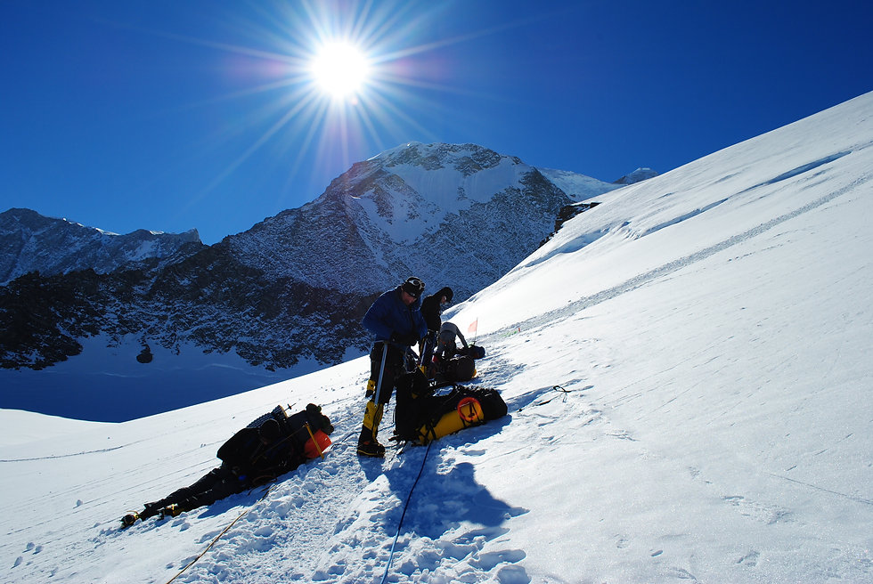 A team climbs Mt. Vinson in Antarctica as a part of the Explorers Grand Slam