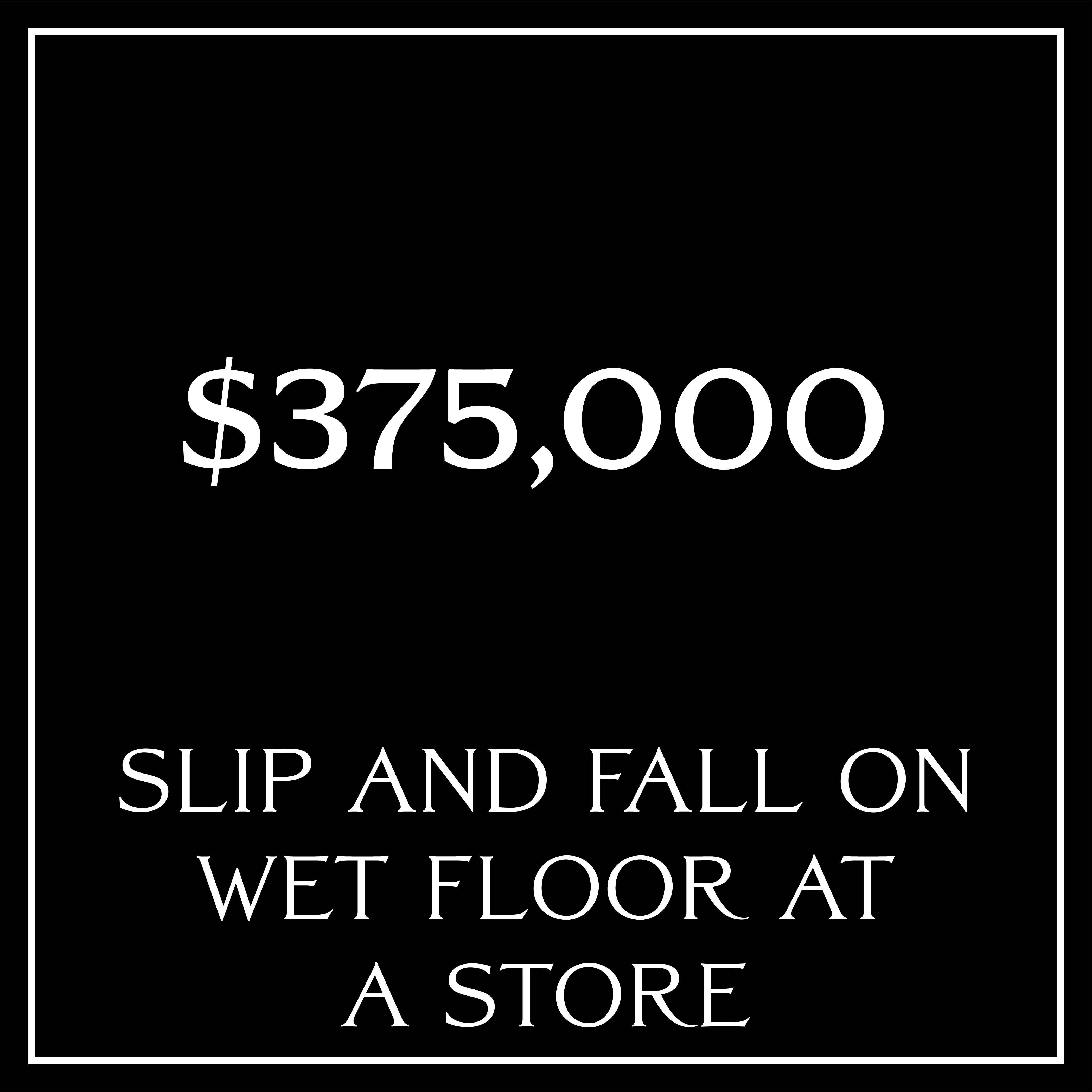 Slip and fall settlement