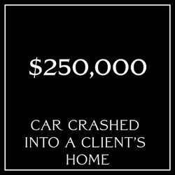 Car crashed into client's home