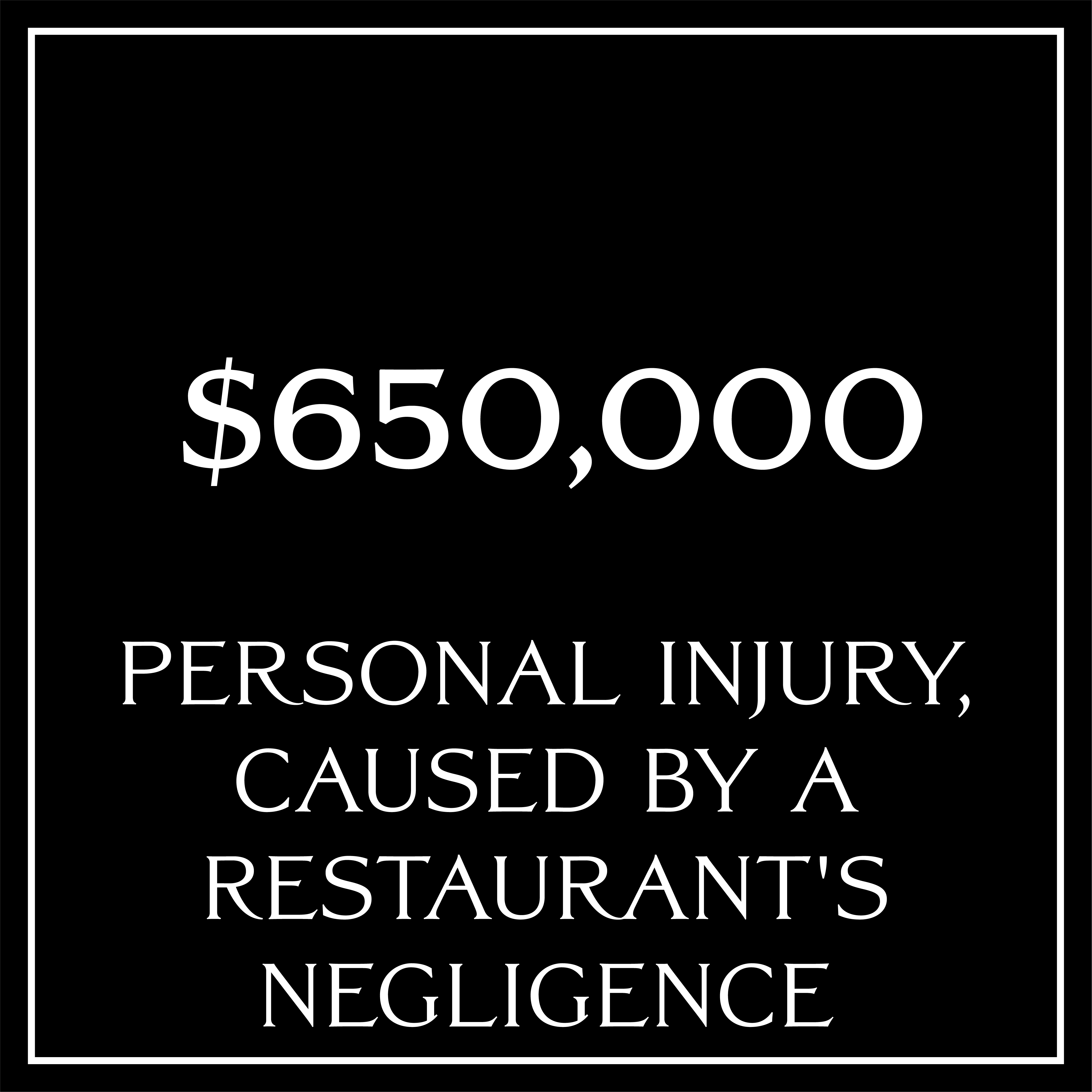 Personal Injury Caused by a restaurant's negligence