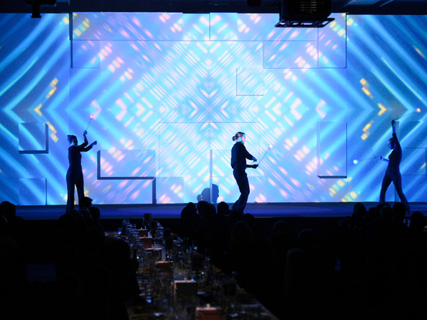 Projection Mapped Dinner