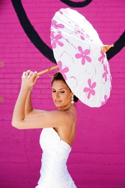 Dallas Bride Pink Parasol