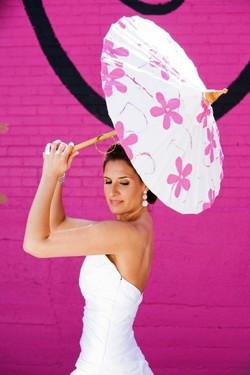 Dallas Bride Pink Parasol