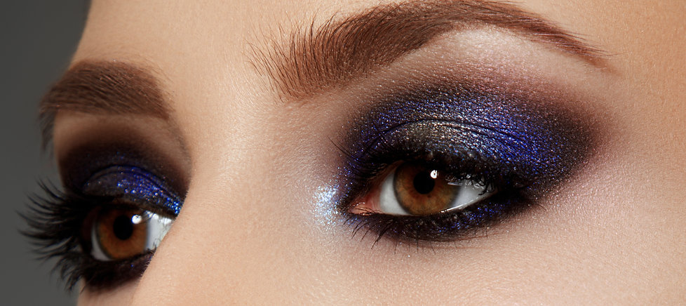 Shiny Blue Eye Shadow