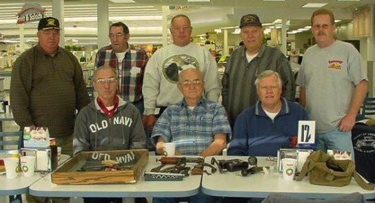 Back from left: Richard Rector, Thomas McRady, Lee Donius, John Osborn, Tom Beardsley. Front: Bob Sanson, Bill Auch, Ron Anderson