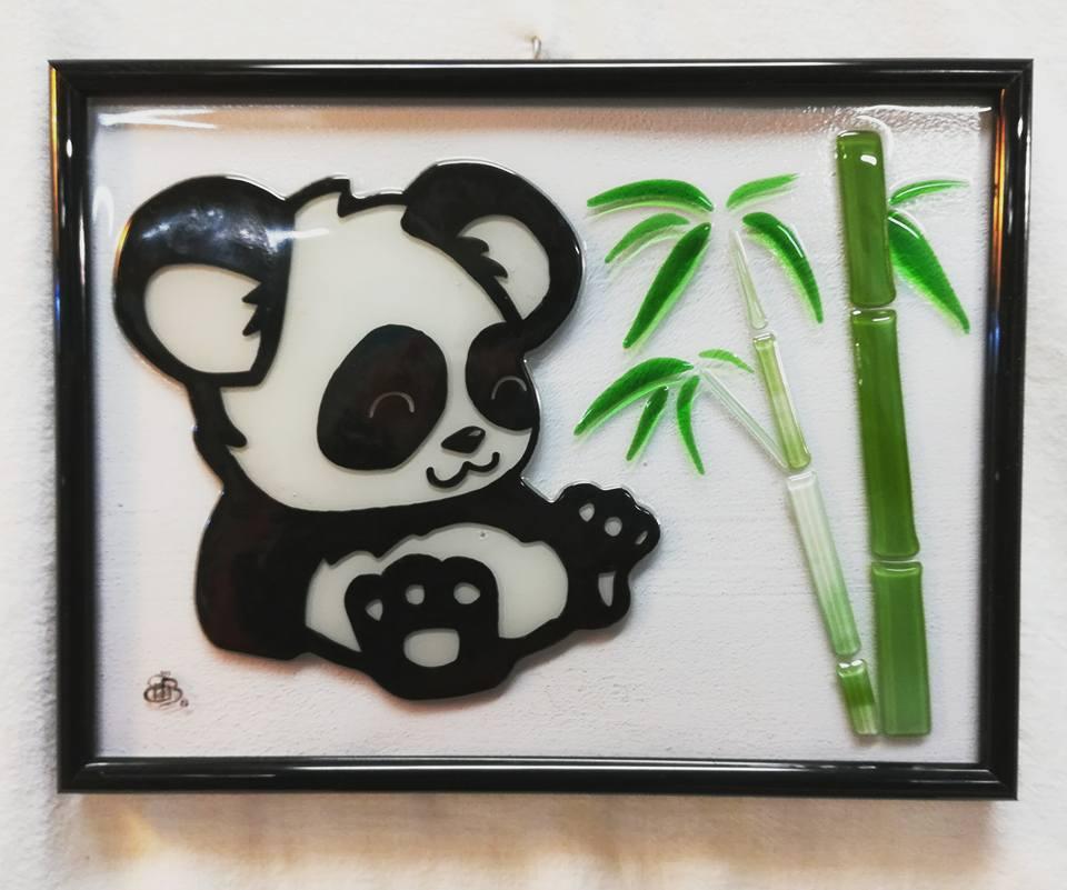 Cadre mural panda