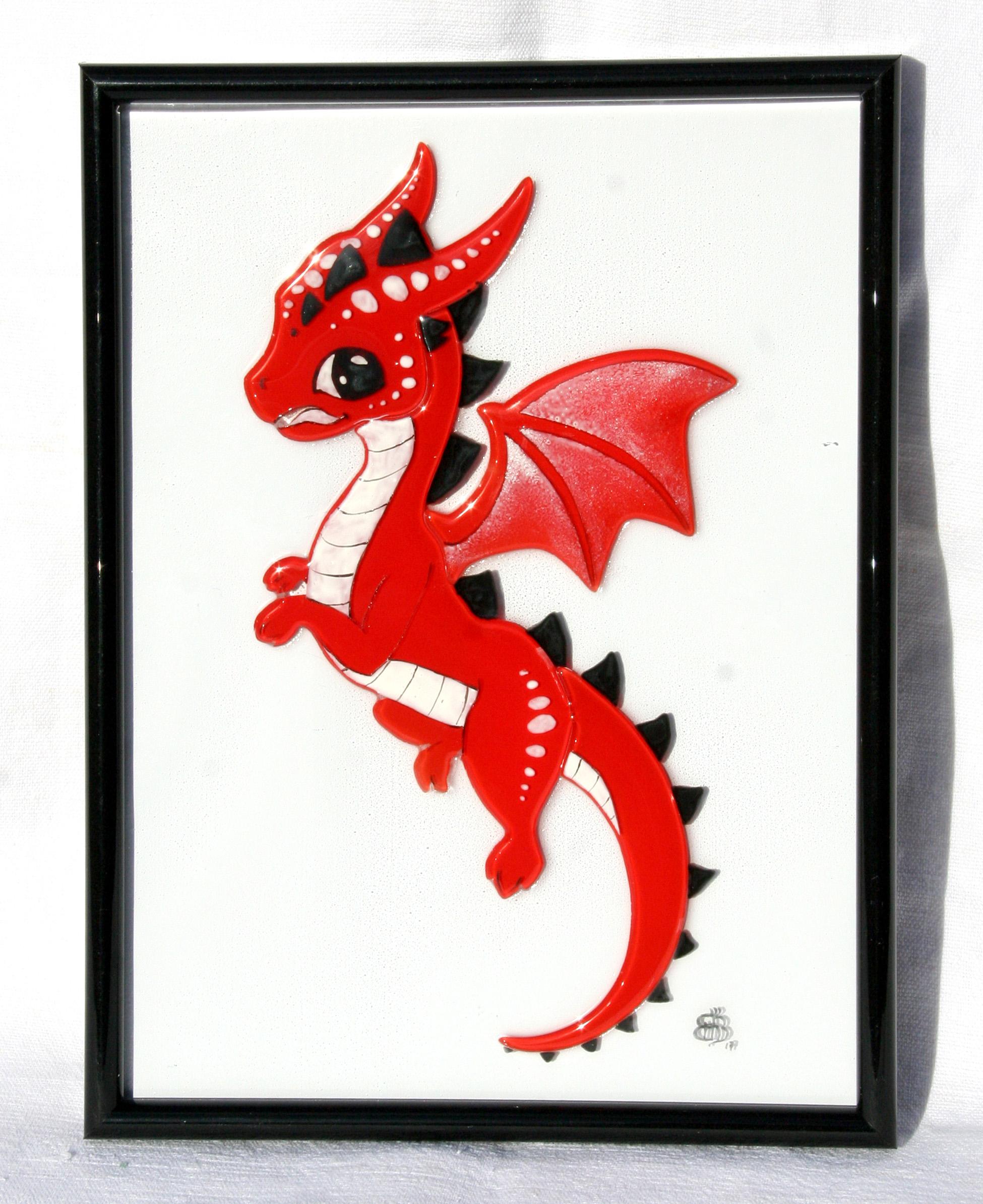 Cadre mural dragon