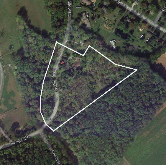 Aerial View with Property Line