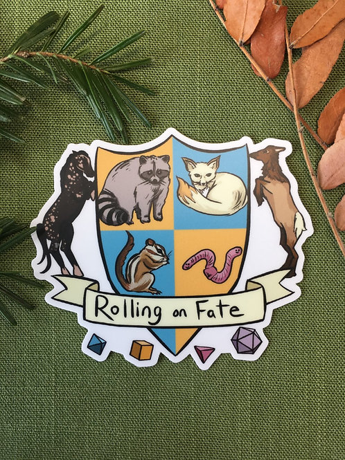 Rolling on Fate Crest Sticker