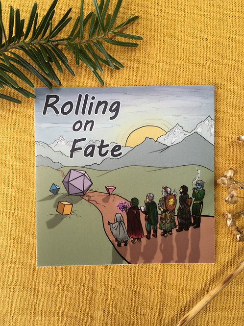 Rolling on Fate Cover Art Sticker